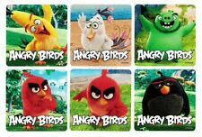 12 Angry Birds Movie Stickers Kid Party Goody Loot Bag Filler Favor Supply