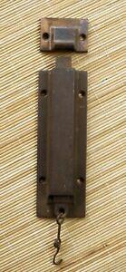 "6"" Antique Vintage Cast Iron Double Door Flushbolt Sliding Slide Latch Lock Bolt"