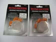 2 Pair Winchester Shooting Range Noise Hearing Protection Corded Ear Plugs 99776