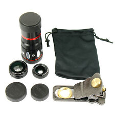 10x Zoom Telescope Fish Eye + Wide Angle + Macro Clip Lens for iPhone Universal