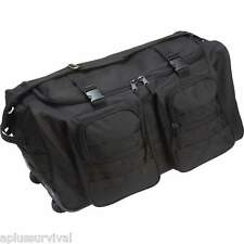 "Black Water Resistant 26"" Wheeled Duffle Survival Bug Out Camping Tactical Bag"