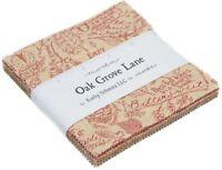 "Oak Grove Lane Moda Charm Pack 42 100% Cotton 5"" Precut Fabric Quilt Squares"
