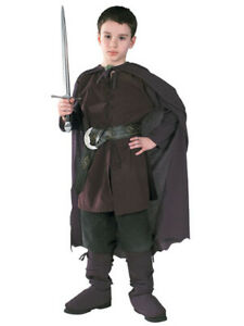 New Childs Lord of the Rings Aragorn Strider Costume Large 12-14