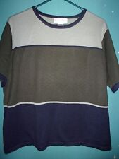 Dressbarn olive green and navy blue knit top  Size 14/16   (1X)
