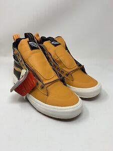 Vans Men's Sk8 Hi MTE 2.0 DX Primaloft Boots Apricot Orange Black Size 9.5