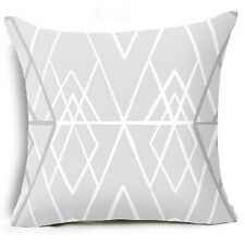 Boho Geometric Polyester Pillow Case Waist Cushion Cover Sofa Home Decor Novelty #05 Black and White