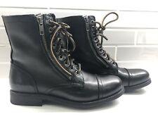 FRYE Women's Tyler Double Zip-SVL Lace Up Winter Ankle Boot SIZE 6-6.5 /37 Black