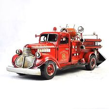 Handmade 1941 Chevyfire-army-3 Fire Truck Tinplate Antique Style Metal Model