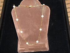 """693 14k yellow gold pearl nacklace 5.35 grams 11  5.9 mm akoya pearls 16"""" chain"""