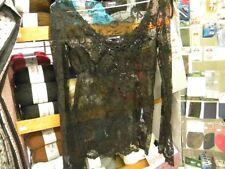 1 haut chemisier dentelle noir morgan manche  taille :  36/38 c6