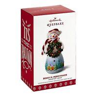 Snowtop Lodge Benny M. Merrymaker 2017 Hallmark Ornament #13  Wreath  Santa Hat