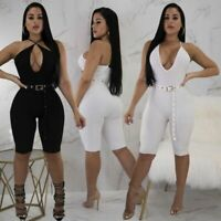 Ladies Cocktail Party Trousers Jumpsuits Pants Bodysuit Sexy Overall Romper