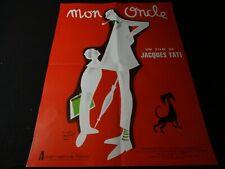 jacques tati / MON ONCLE  !  my uncle affiche cinema pierre etaix : neuve !!!