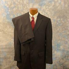 Missoni Sz 42 L Gray Herringbone Wool Two Button 2 Pc Men's Suit