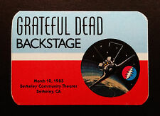 Grateful Dead Backstage Pass NASA Space Shuttle Challenger Berkeley 3/10/1985 CA
