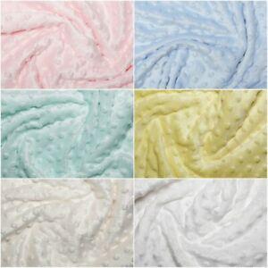 """Dimple Dot Popcorn Cuddle Soft Fleece Fabric 59""""/150cm wide per metre"""