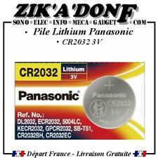 Pile bouton 3V Lithium CR2032 PANASONIC (Expédié depuis la France)