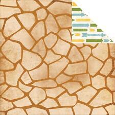 BoBunny Safari Zoo 12x12 Scrapbooking Paper - Giraffe Spots