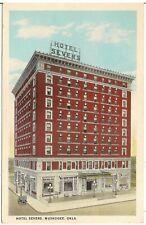 Hotel Severs in Muskogee OK Postcard 1927