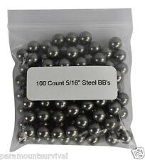 100 Pc Sling Shot Ammo for Pocket Shot Sling Shot Ball Bearings 5/16 Inch 8mm