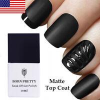 BORN PRETTY 10ml No-Wipe Matte Top Coat Nail UV Gel Polish Nail Art Soak Off US
