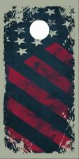 Distressed American Flag Grunge Laminated Cornhole Wrap Bags Skin Decal Sticker