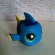 Littlest Pet Shop #327 Blue Puffer Fish green eyes - USA seller - 6 pictures