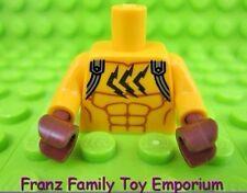 New LEGO Minifig Lt Orange TORSO Muscle/Silver Straps Batman Movie Series Catman