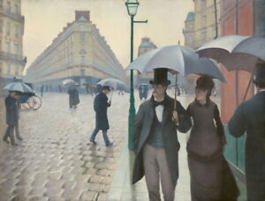 Gustave Caillebotte Paris Street; Rainy Day Giclee Paper Print Poster