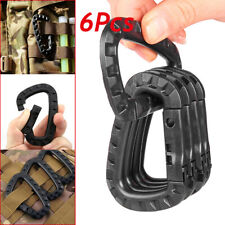 6pcs Outdoor Carabiner D-Ring Clip Hook Snap Spring Lock Key Chain Buckle Tools