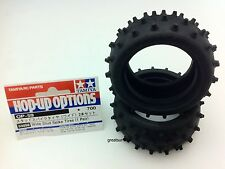 53059 Tamiya 1/10 RC Buggy Parts Wide Stud Spike Tire Rear Tire for 58184