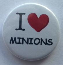 BUY 2 & GET 1 FREE - I Love Minions 25mm 1'' Pin Button Badge - Despicable Me