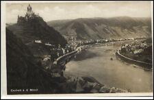 Cochem an der Mosel Postkarte 1930 gelaufen Totalansicht mit Brücke Mosel Burg