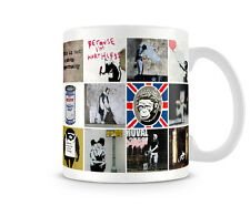 Banksy Printed Mug - Montage of popular Images 6 - BKM341
