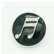 Noosa Chunks Ginger Style Snap Button Charms Rhinestone Double Bar Note 20mm