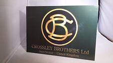 Vintage Crossley Bros. tabla indicadora de motor estacionario. Rally signo. show Junta.