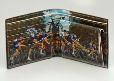 Paul Smith Brown Blurred Cyclist Coin & Card Bifold Wallet