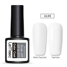LEMOOC 8ml Gel Polish Matte Effect Pure Tips Soak Off UV LED Nail Gel Varnish