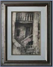 Importante acquerello paesaggio antica baita in Carnia firmato Gianni Pielli 76