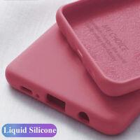 For Xiaomi Redmi K30 Note 8 7 Pro Mi A3 10 Liquid Silicone Slim Soft Case Cover