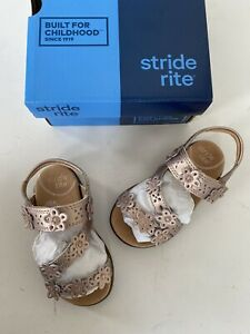 Stride Rite Toddler Girls Rose Gold Sandals Size 6 New