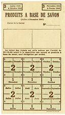 TICKETS / FEUILLE / PRODUITS A BASE DE SAVON 1941/1942