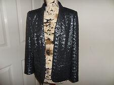 Stunning Boden Gunmetal Grey Sequin Blazer Size 16 New