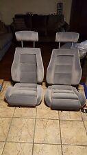 FLOFIT SPORT SEATS KIT CAMARO MUSTANG SALEEN NEW KIT BLACK GERMAN VINYL NEW