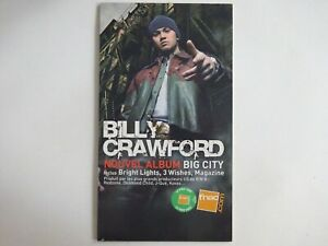 BILLY CRAWFORD ♦ RARE FRENCH PoS ( PLV ) ♦ BIG CITY