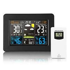 LCD Digital Wireless Weather Station Forecast Clock Indoor&Outdoor Thermometer