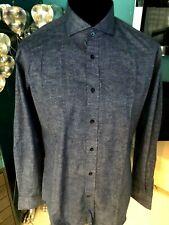 Karl Lagerfeld Jeans Style Herren Slim Fit Hemd Blautöne Gr 42/106 NEU
