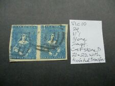 Victoria Stamps: Half Length Pair Used  - Rare   (h81)