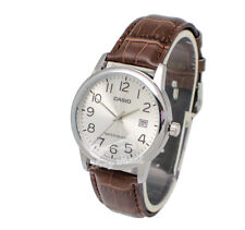 -Casio MTPV002L-7B2 Men's Strap Fashion Watch Brand New & 100% Authentic