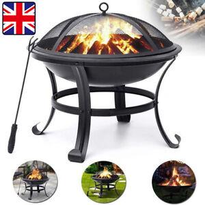 Fire Pit Log Burner Heater Bowl Firepit Garden Patio Outdoor Camping Large BBQ
